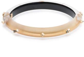Alexis Bittar Golden Studded Hinge Bangle Bracelet
