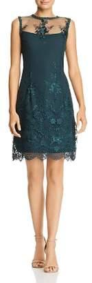 Nanette Lepore nanette Sleeveless Illusion Embroidered Dress