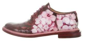 Band Of Outsiders Floral Patent Leather Oxfords