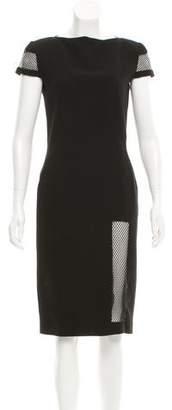 Jean Paul Gaultier Mesh-Trimmed Midi Dress