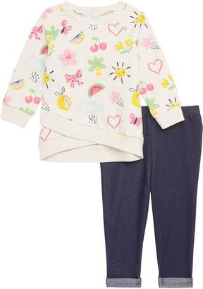 Little Me Sweatshirt & Leggings Set