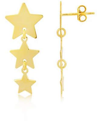 Amalfi by Rangoni Argent of London 18ct Gold Vermeil Star Earrings