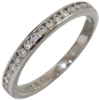 Tiffany & Co. 950 Platinum & Diamonds Half Eternity Ring Size 5