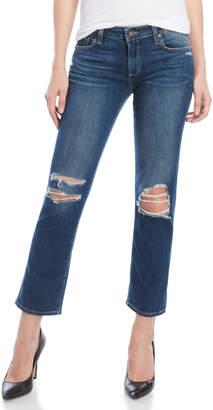 Paige Brigitte Distressed Boyfriend Skinny Jeans