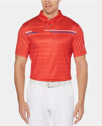 0a7143b3 PGA Tour Men Motionflux Performance Stretch Moisture-Wicking Broken Shadow-Stripe  Polo