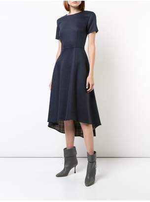 ADAM by Adam Lippes Double Face Wool Short Sleeve Dress With High-Low Hem