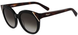 Salvatore Ferragamo Gradient Cat-Eye Sunglasses $326 thestylecure.com