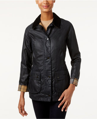 Barbour Beadnell Wax Raincoat $399 thestylecure.com