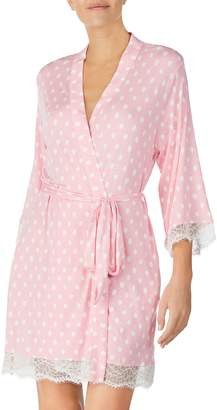 Kate Spade Lace Trim Knit Robe