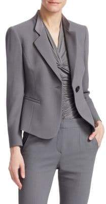 Emporio Armani Stretch-Wool Blazer