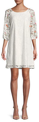 Gabby Skye Embroidered Lace Dress