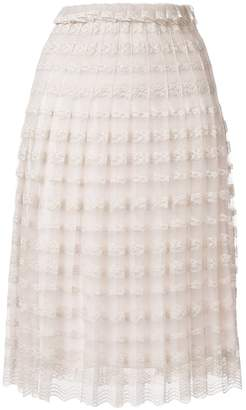 Philosophy di Lorenzo Serafini pleated lace skirt