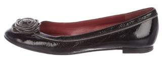 Marc by Marc Jacobs Patent Leather Embellished Flats