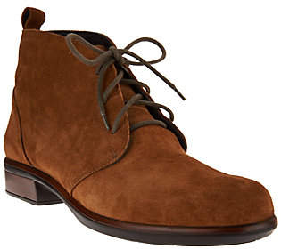 Naot Footwear Leather or Suede Lace-up Ankle Boots -Levanto