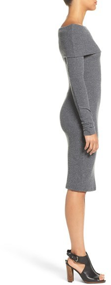 Women's Nsr Off The Shoulder Body-Con Sweater Dress 4