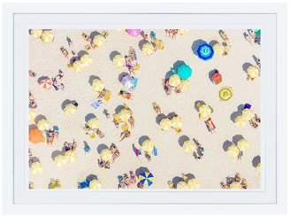 Gray Malin Rio Yellow Umbrellas (Framed)
