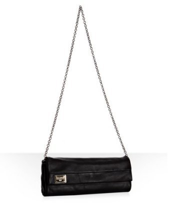 Dolce & Gabbana black leather 'Miss Martini' chain shoulder bag
