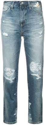 AG Jeans distressed high-rise jeans
