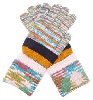 Missoni Striped Wool Gloves - Womens - Multi