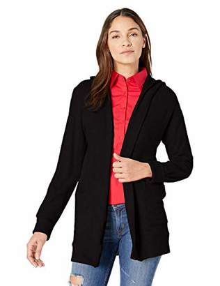 Three Dots Women's QQ7447 Brushed Sweater Hooded Cardi