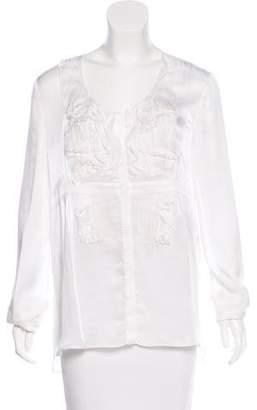 Givenchy Semi-Sheer Silk Blouse