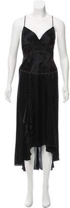 Just Cavalli Silk Sleeveless Maxi Dress