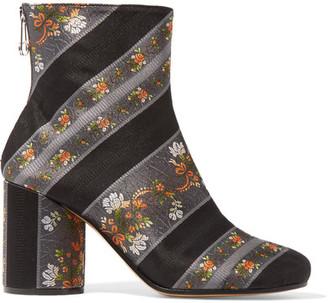 Maison Margiela - Jacquard Ankle Boots - Black $875 thestylecure.com