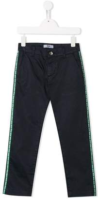 MSGM Kids logo band trousers