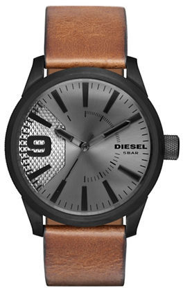 Diesel Diesel Leather-Strap Watch