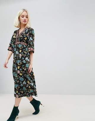 Hazel Floral Printed Maxi Dress