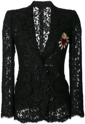 Dolce & Gabbana Sacred Heart lace blazer