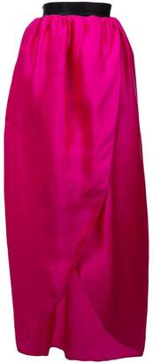 Christian Siriano wrap front maxi skirt