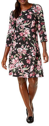 Karen Scott Floral-Print Shift Dress