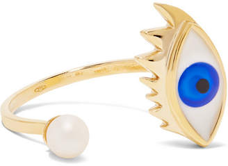 Delfina Delettrez 9-karat Gold, Pearl And Enamel Ring