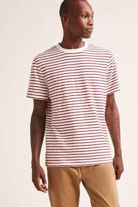 Forever 21 Stripe Cotton Slub Knit Tee