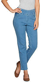 Denim & Co. Perfect Denim Smooth Waist RegularAnjle Jeans