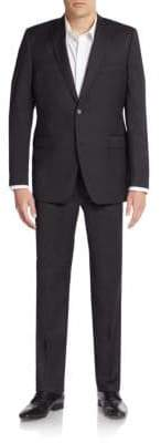 Saks Fifth Avenue Extra Slim Fit Solid Wool Suit