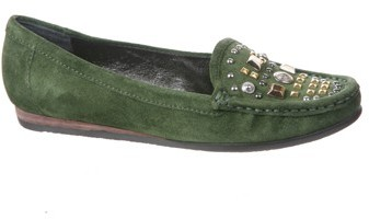Apepazza Asia Loafer in Pine Suede