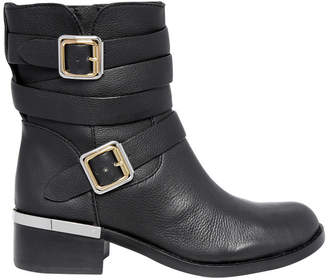 Vince Camuto Webey Black Fine Grain Leather Boot