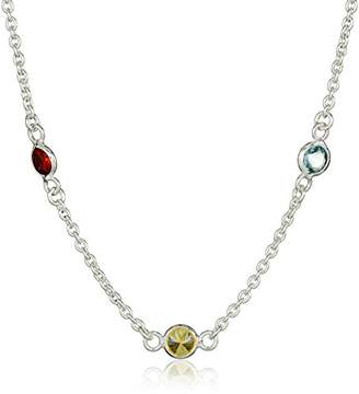 Amazon Essentials Sterling Silver AAA Cubic Zirconia Station Necklace