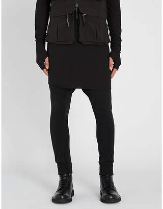 Boris Bidjan Saberi Dropped-crotch cotton-jersey jogging bottoms