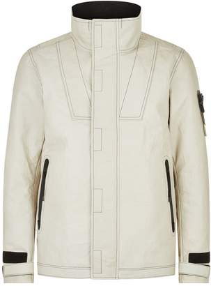Stone Island Bonded Leather Ice Jacket