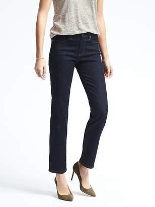 Banana Republic Petite Slim-Straight Dark Wash Jean
