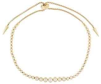 Prive Jemma Wynne 18kt yellow gold Luxe small diamond slider bracelet