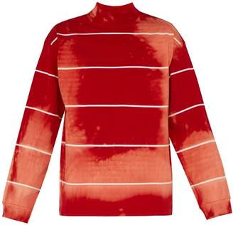 Balenciaga Tie Dyed Cotton Jersey Sweater - Mens - Red White
