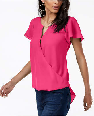 INC International Concepts I.n.c. High-Low Hardware-Detail Top, Created for Macy's