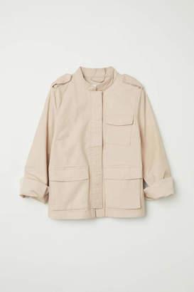 H&M Cotton Cargo Jacket - Light beige - Women