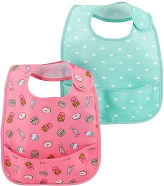 Carter's Baby Girl 2 Pack Pocket Bib Set