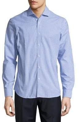 Black & Brown Black Brown Checkered Button-Down Shirt