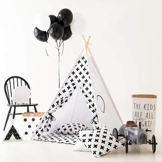 Grattify Monochrome Kids Teepee Tent Set With Window
